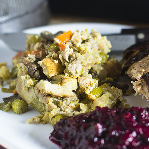 Thanksgiving Cornbread Stuffing from Feed Your Soul Too