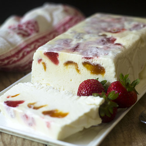 Apricot and Strawberry Semifreddo from Feed Your Soul Too