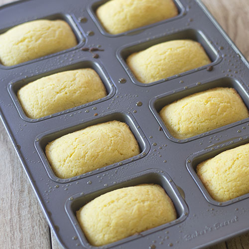 Easy Mini Cornbread loaves Out of Oven