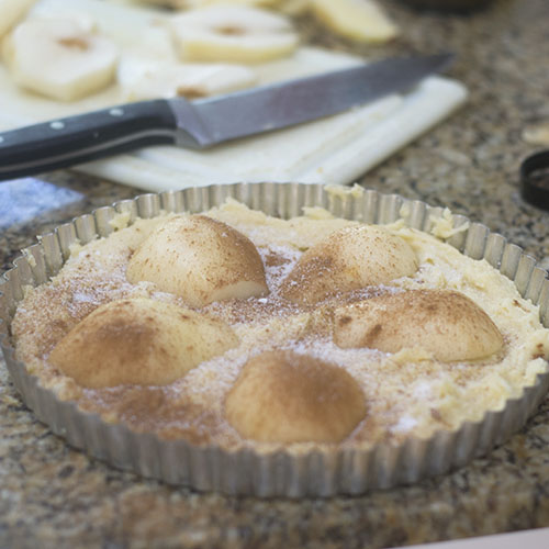 Pears Added to Batter