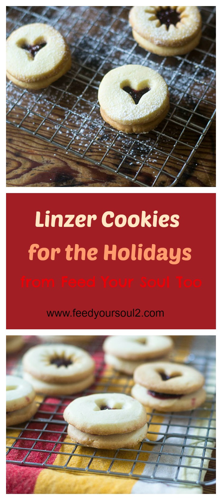 Linzer Cookies for the Holiday #cookies #dessert #Christmas | feedyoursoul2.com""