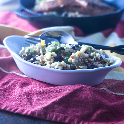 Cajun Style Okra Risotto from Feed Your Soul Too