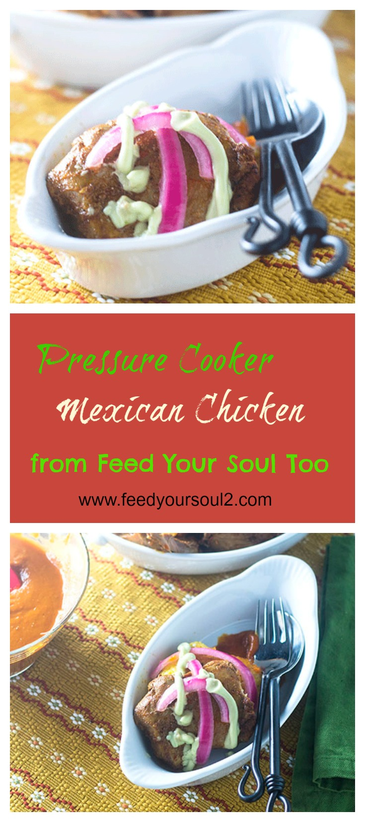 Pressure Cooker Mexican Chicken #pressurecooker #Mexicanfood #chicken #dinner | feedyoursoul2.com