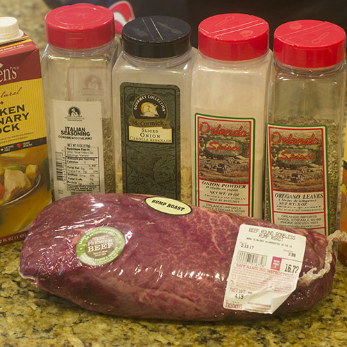 Pressure Cooker Beef Ingredients