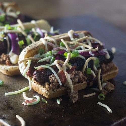 Asian Hot Dog Recipe #promotion #Asianrecipe #kosher #hotdog | feedyoursoul2.com