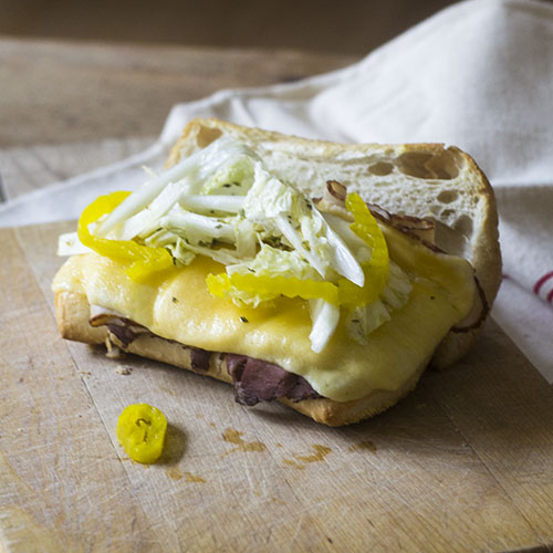 Beef Cheese Hoagie Sandwich from Feed Your Soul Too