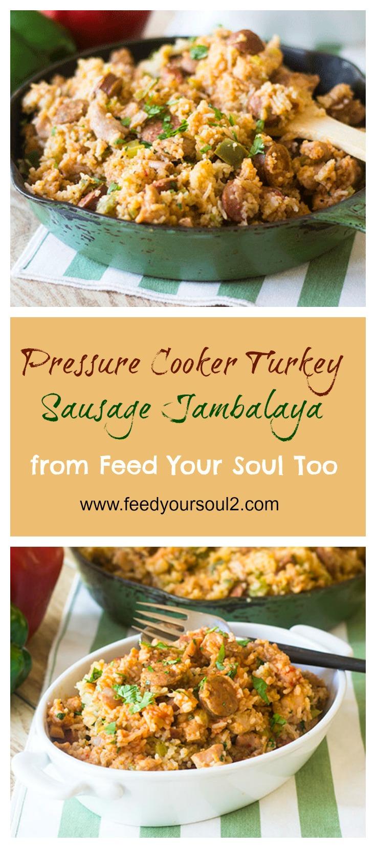 Pressure Cooker Chicken Sausage Jambalaya #Pressurecooker #Cajun #chicken #dinner   feedyoursoul2.com