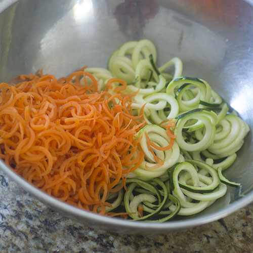 Spiralized Zucchini and Carrots