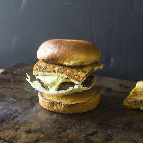 Indian Paneer Curry Burger from Feed Your Soul Too