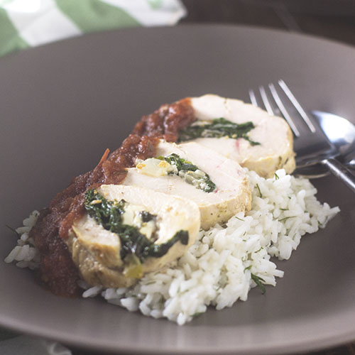 Feed Your Soul Too: Greek Chicken Spinach Feta Roulade