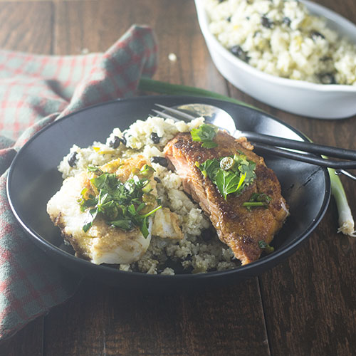 Rodrigo Style Fish Cauliflower Rice from Feed Your Soul Too