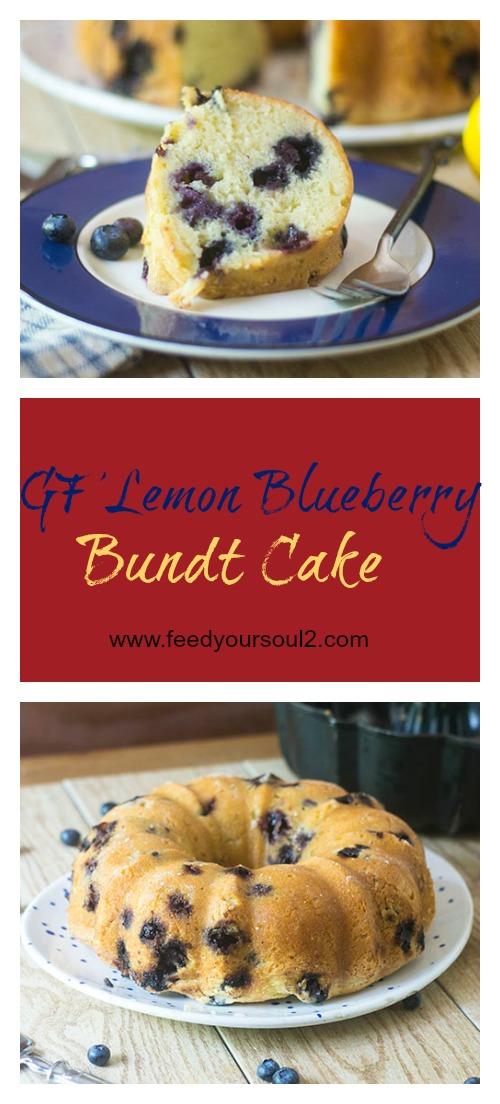 GF Lemon Blueberry Bundt Cake #glutenfree #cake #dessert | feedyoursoul2.com