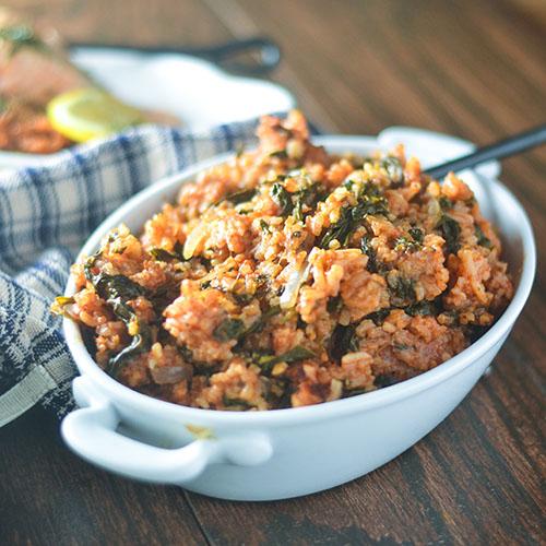 Greek Tomato Rice #rice #Greekfood #sidedish   feedyoursoul2.com