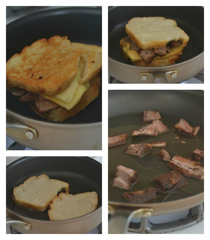 Building and Grilling of the Sandwich