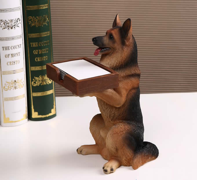 Dog Desk Business Card Holder FeelGift