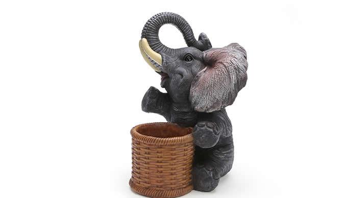 Elephant Pen Pencil Holder Desk Organizer FeelGift