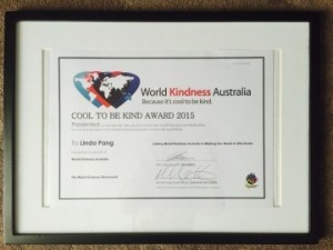 This is an image of World Kindness Australia Award