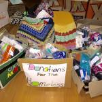 This is an image of some of the donations to KIC 2016