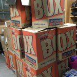 This is an image of boxes that store Winter Care Kits