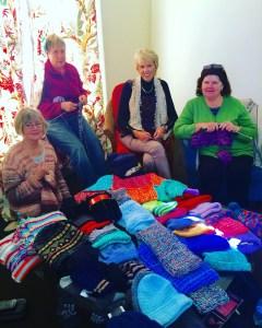 This is an image of volunteer knitters from Kirribilli Neighbourhood Centre