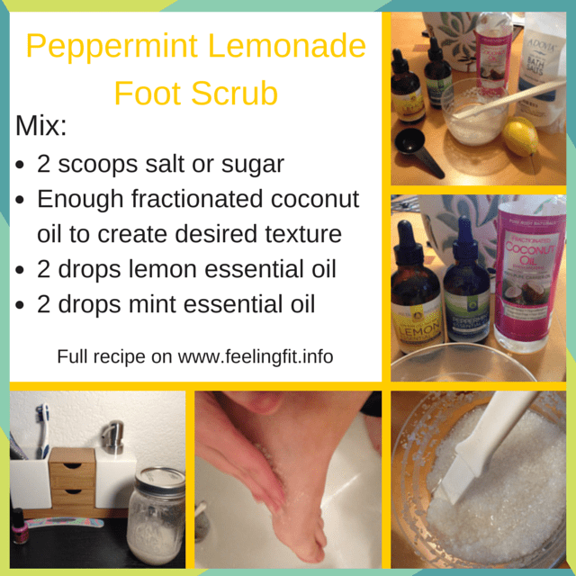 Peppermint Lemonade Foot Scrub