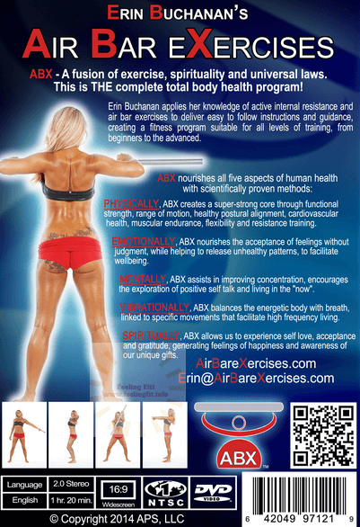 Back cover Air Bar Exercises Workout DVD