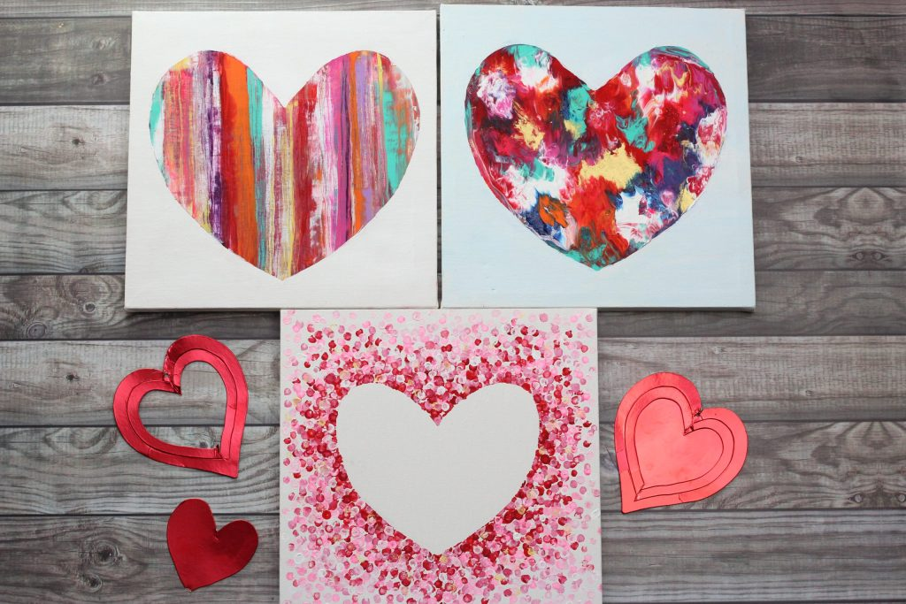 Heart Painting On Canvas 3 Ways Easy Tutorial For Kids Adults Here are some questions i've heard over the years from people wanting to start painting, and my answers based on my love of acrylic pouring heart painting on canvas 3 ways easy