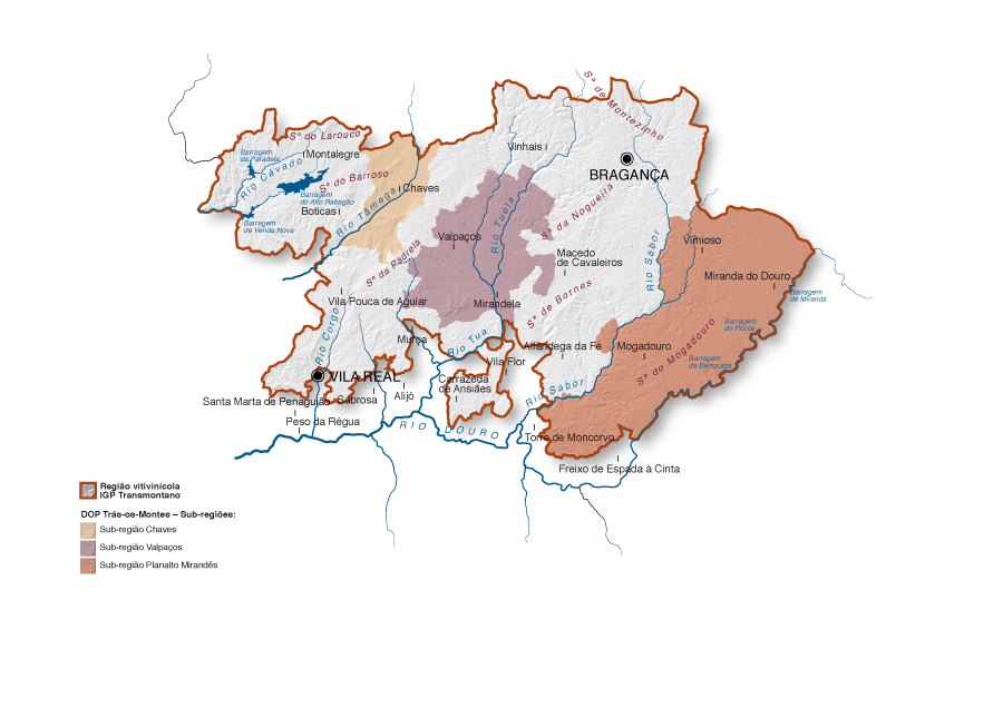 Mapa do Planalto Transmontano