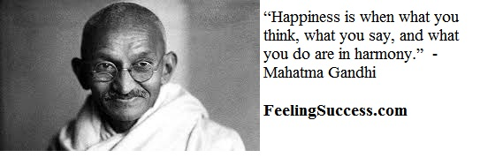 mahatma gandhi quote-feelingsuccess