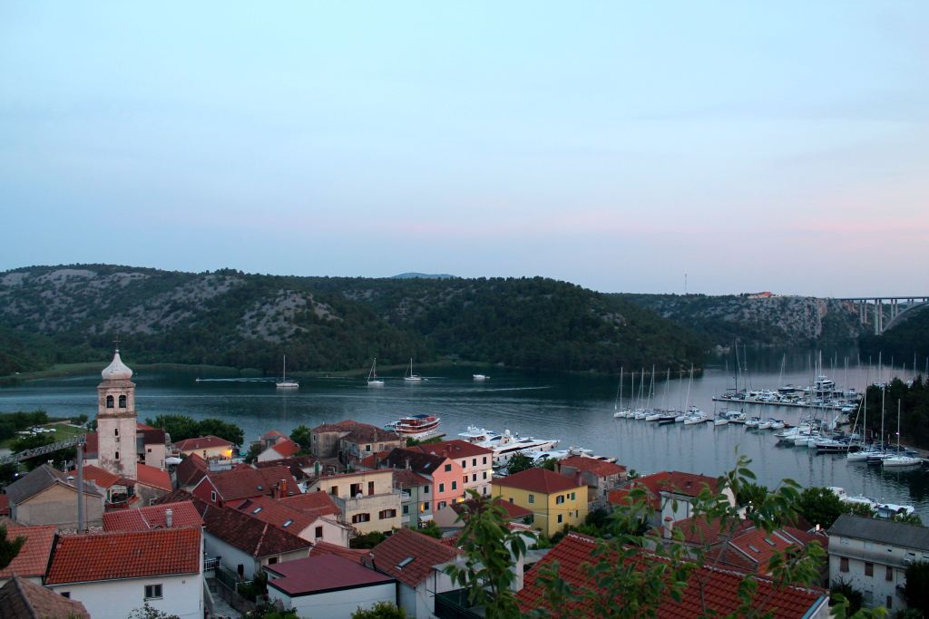 Skradin, ruta en bicicleta desde croacia hasta montenegro