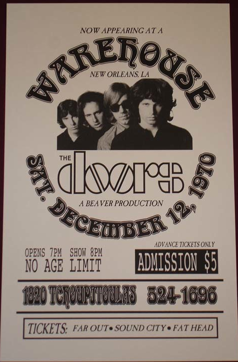 The Doors Last Show New Orleans The Warehouse December 12, 1970