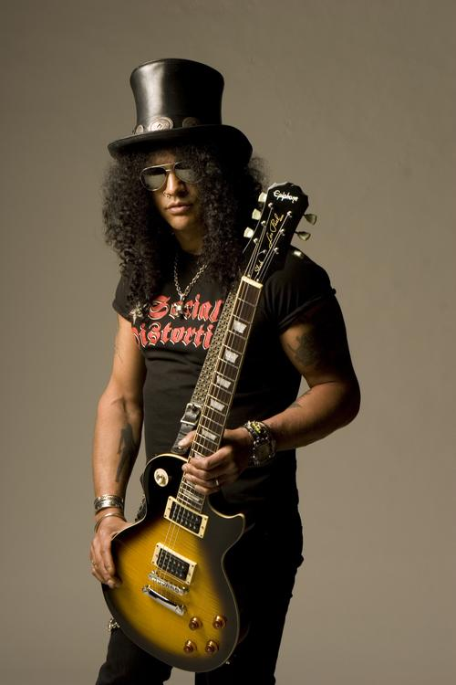 Slash Wearing Social Distortion Band Shirt