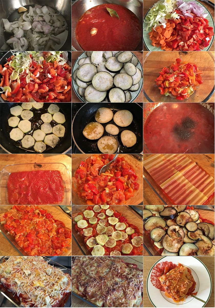 Pasos Lasaña de verduras | Feelomena's Kitchen - Web Ofifical