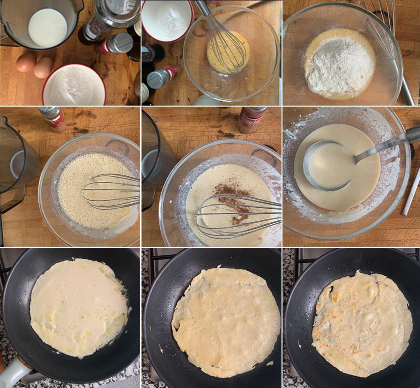 Pasos crepes sin azúcar | Feelomena's Kitchen