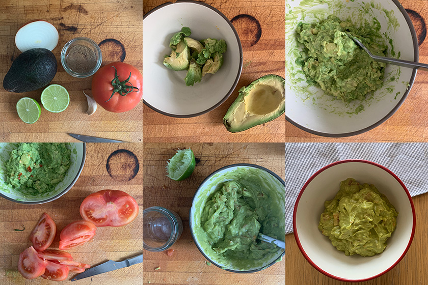 Pasos Guacamole Casero | Feelomena's Kitchen