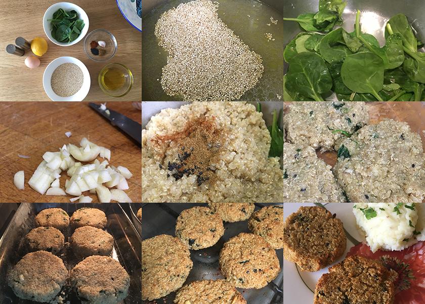 Pasos Hamburguesas de Quinoa | Feelomena's Kitchen - Web Oficial
