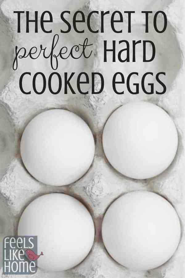There is a secret to perfectly hard boiled eggs, and you can learn it here! If you follow these easy instructions, you will never have runny or rubbery hard boiled eggs again!