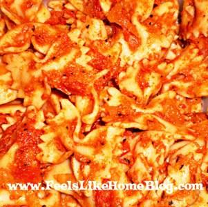 pasta with tomato gorgonzola sauce