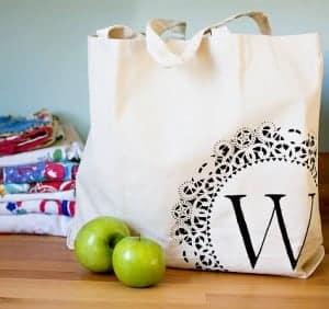 Doily tote bag