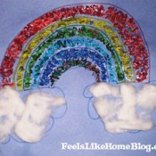 How to Make a Mosaic Rainbow Using Dyed Rice