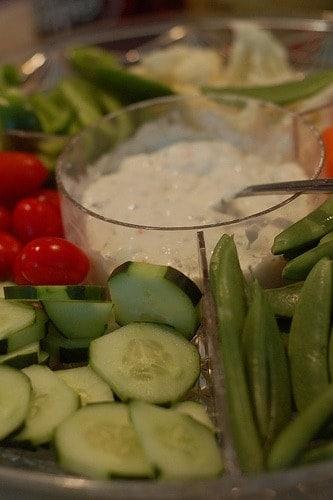 homemade veggie dip