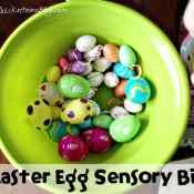 Easter Eggs Sensory Bin