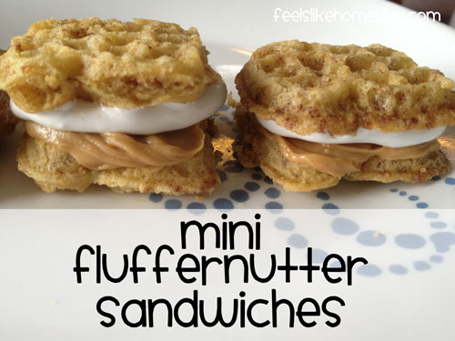 mini fluffernutter sandwiches