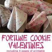 Fortune Cookie Valentines – Free Printable Valentine Fortunes