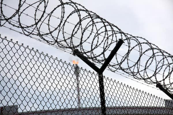 prison wire and fence