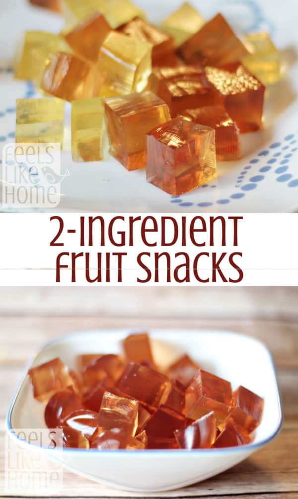 These simple, healthy homemade fruit snacks are made with only 2 ingredients and one of them is juice! You will not believe how quick and easy they are to make.