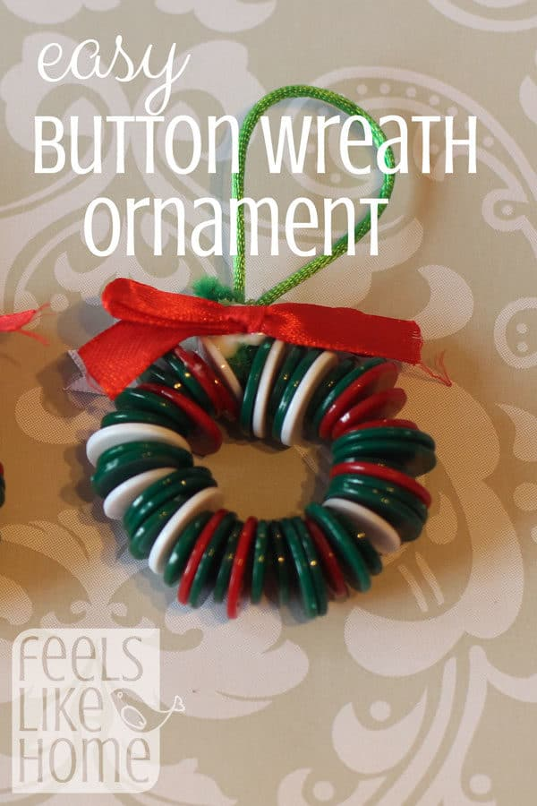 This craft is super easy, and the results are always great! Your preschoolers will love making these cute little wreath ornaments for their Christmas trees!