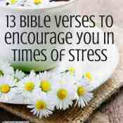 13 Bible Verses to Encourage You in Times of Stress