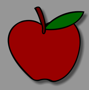 Apple vector drawable image