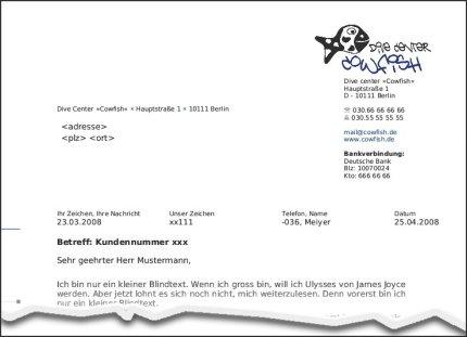 Vorlage Brief Für Fensterumschlag Din A4 : Briefvorlagen Nach Din Fur Openoffice Computer Daten Netze Feenders De Berlin